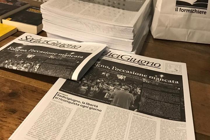Le copie di Sedicigiugno alla presentazione ufficiale del 2 ottobre allo Zut!